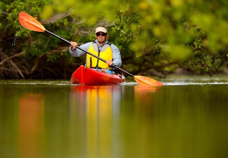 bigstock-Man-Kayaking-In-Florida-57478847