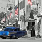 Mainstreet downtown Campbellsville KY Shop Dine Car Show