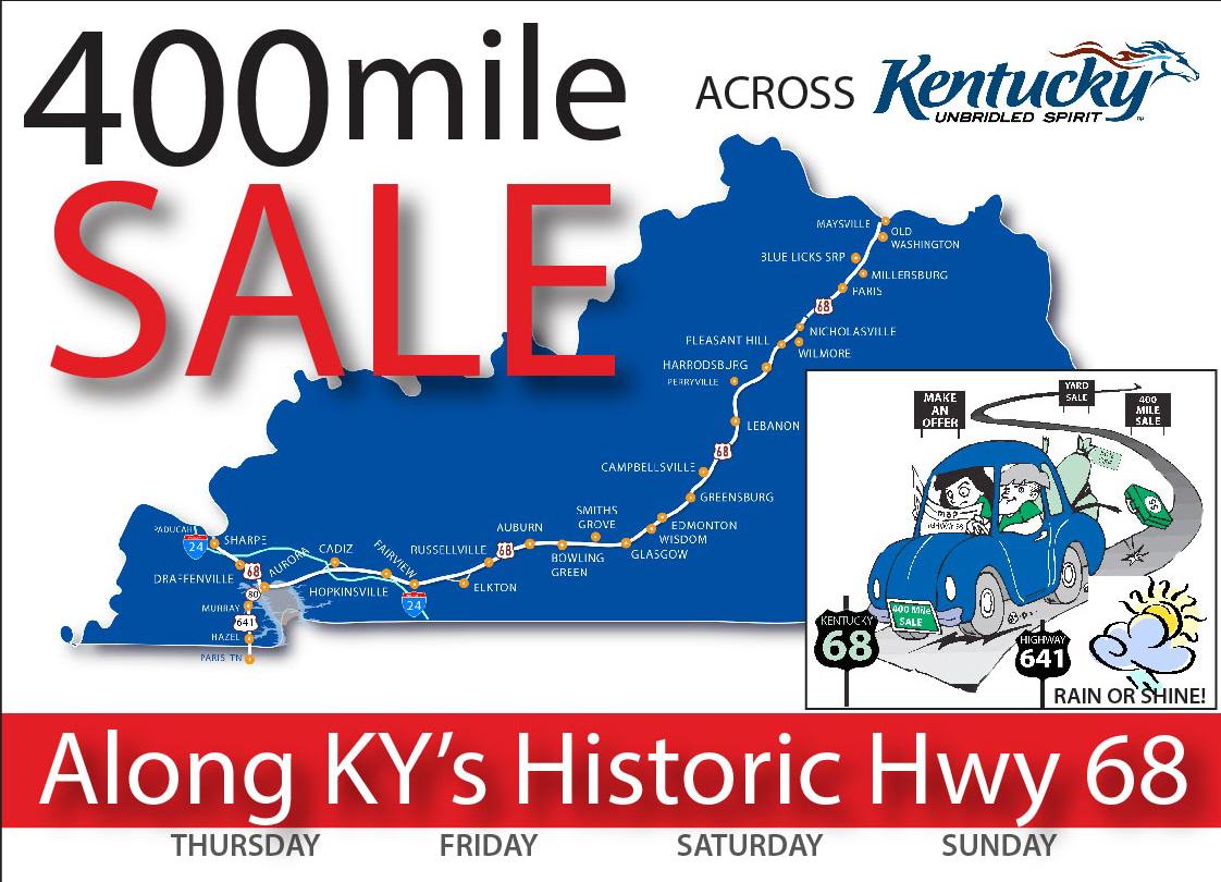 400 Mile Sale HWY 68 Kentucky Yard sale