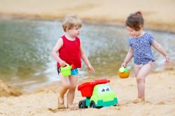 Beach fun at Green River Lake